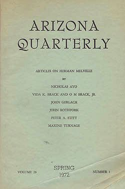 Arizona Quarterly - Spring 1972by: Melville, Herman - Product Image